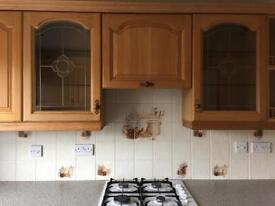 Kitchen in oak. Quality appliances available separately.