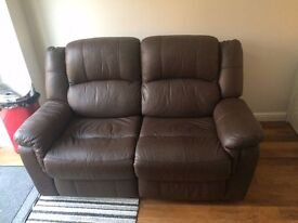 2 Seater Leather Recliner (Barely Used)