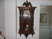 German 'Vienna Style'Chiming Wall Clock