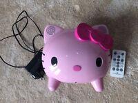 Hello Kitty iPod/iPhone speaker docking station
