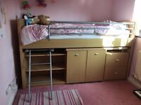 Child's Mid Sleeper bed from Dreams, good condition