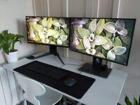 "Dual Monitor Setup - Dell Ultrasharp 4K 27"" + Alienware 240Hz 1080P 24.5"""