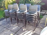 20 Stacking chairs Ideal for parties garden fetes clubs