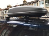 HALFORDS ROOF BOX WITH BARS READY TO BE FITTED