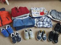 Boys winter bundle Age 1 to 2 years shoes size 4