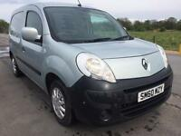 SALE! NO VAT! Bargain Renault kangoo 1.5dci van, sat back, full years MOT ready for work!