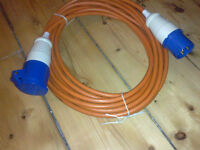 Electric Hookup Cable for campervan or motorhome.