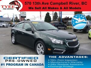 2015 Chevrolet Cruze LT Sunroof Rear Camera Heated Seats