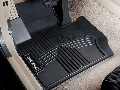 BMW Black All Weather Floor Liners 2012 2018 F30 xDRIVE Sedans FRONT 82112317872
