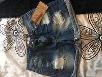 Boohoo size 12 denim shorts