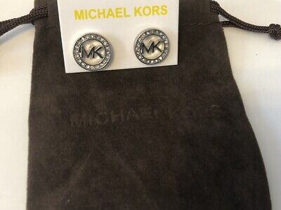 Michael Kors Earrings Silver stud With a Pouch