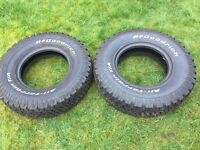 Brand New BF Goodrich All Terrain Tyres for 4x4