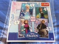 Disney Frozen jigsaws, 4 in 1 box