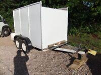 Twin Axle Box Trailer for sale 1.6m x 2.5m high x 1.6m high
