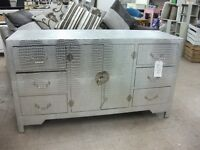 Silver mock-croc sideboard chest of drawers cupboard