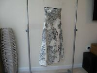 Coast Dress Cream/Blue size 10