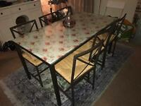 Ikea glass table with 6 chairs