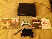 xbox 360 120 gb 4 games wireless pad and case