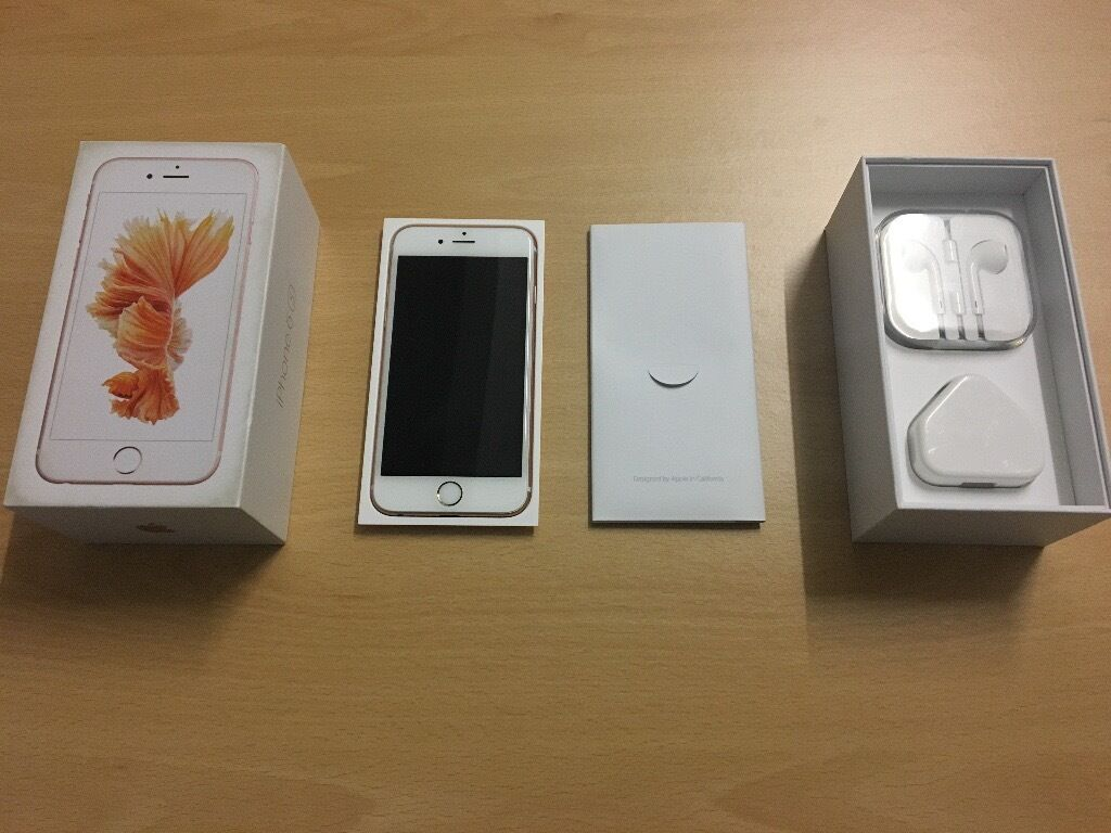Apple iPhone 6S 16gb rose gold EE fully boxedin Leicester, LeicestershireGumtree - Apple iPhone 6S 16gb rose gold for sale. Currently on the EE network but can be unlocked for £9. The phone is in immaculate condition, no scratches at all 10/10. The back still has the original seal at the back. The phone comes fully boxed with...