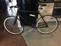 CUSTOM FIXIE FIXED WHEEL BIKE new wheel new inner tube !!