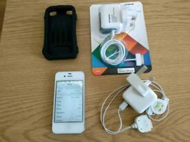 Apple IPhone 4 16gb - fully working but has screen fault