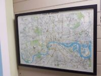 A lovely old printed map of London