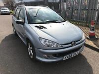 PEUGEOT 206 SW 1.6 HDI VERVE - ESTATE - 65 MPG - MOT OCT 2018