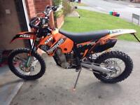 2007 Ktm 450 exc 6day registered as 125