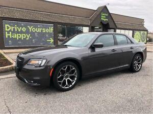 2017 Chrysler 300 300S / LEATHER / 20 HYPER BLACK RIMS