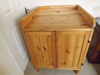 Ikea pine changing table