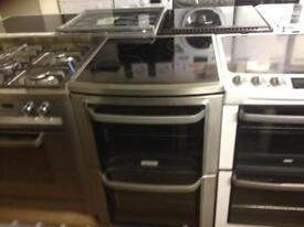 Steel finish electric cooker (double oven)