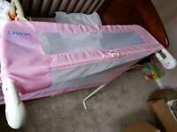 Lindam pink bed rail