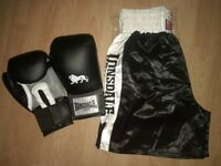 Lonsdale Boxing shorts L and 16oz training gloves