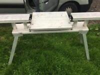 Solid titanium chop saw bench