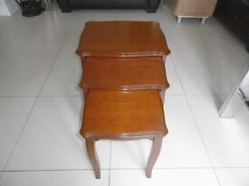 NEST OF TABLES, 3 TABLES, EXCELLENT CONDITION, MADE BY STAG, INTERLOCKING