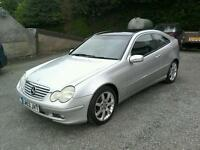 03 Mercedes C180 SE Auto coupe full service history ( can be viewed inside anytime)