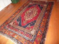 Hand-woven wool afghani carpet and runner