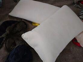 Two memory foam pillows