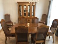 American Ash dining room table and chairs set