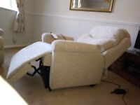 Two Seater Three Piece Suite (Rise and Lift Chair)