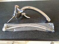 kitchen monoblock tap new with flexible connectors . £10