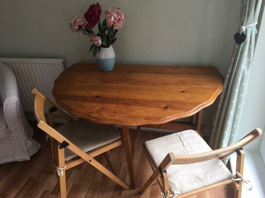 Foldable Dining Table With Two Chairs In Headington Oxfordshire Gumtree