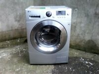 LG washer dryer 8kg , silver very good condition.