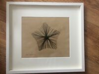 Unique abstract art using stitched ostrich feathers *Star*