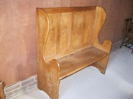 MONKS BENCH / SETTLE. PEW. Delivery possible. CHURCH / CHAPEL CHAIRS ALSO FOR SALE.