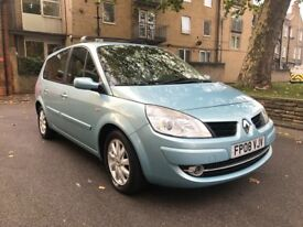 2008 RENAULT GRAND SCENIC 1.5 DCI 7 SEATER 6 SPEED MANUAL DIESEL 12 MONTHS MOT SERVICE HISTORY