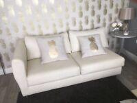 Habitat soft leather stylish sofa