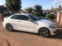 Immaculate condition BMW 2 Series Sport Coupe. Very low mileage and great spec including nav.