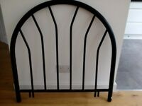 2 Metal headboards black in colour for single beds