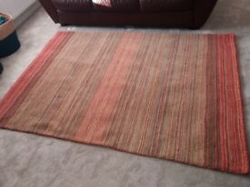 Next ombre stripe rug - red / orange / green